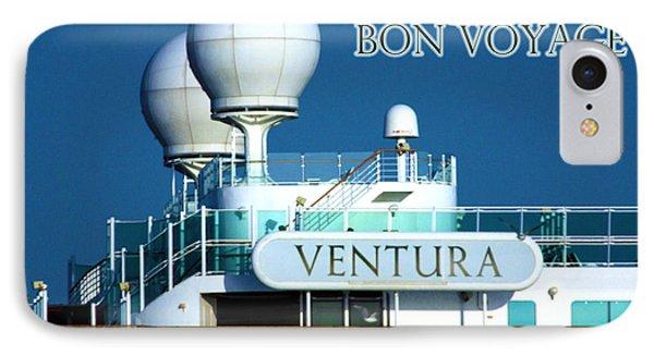 Cruise Ship Ventura's Radar Domes Phone Case by Terri Waters