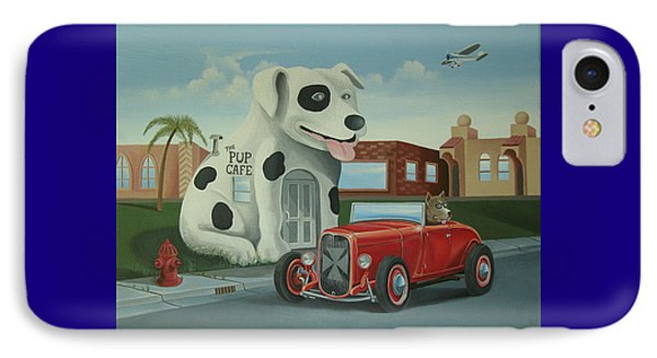 Cruisin' At The Pup Cafe IPhone Case by Stuart Swartz