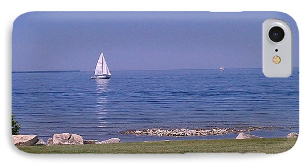 cruisin down the Bay on a Sunday afternoon Phone Case by Dawn Koepp