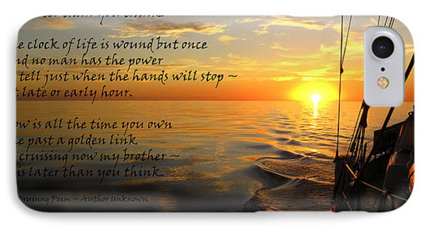 Cruising Poem IPhone Case by Anne Mott