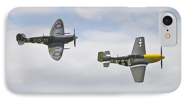 Cruising Spitfire And Mustang  IPhone Case by Maj Seda