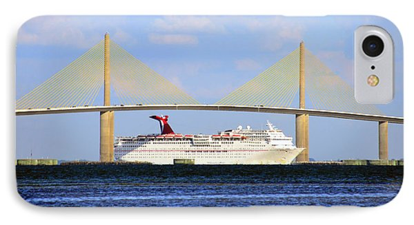 Cruising Tampa Bay IPhone Case by David Lee Thompson