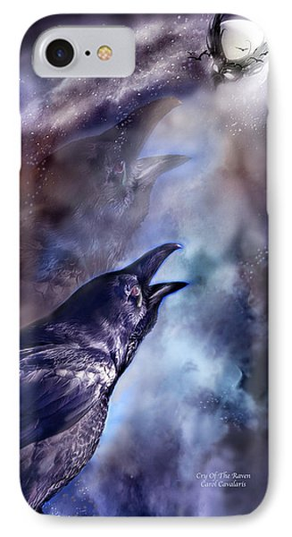 Cry Of The Raven Phone Case by Carol Cavalaris