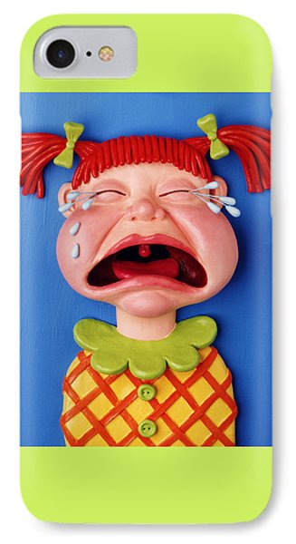 Crying Girl IPhone Case by Amy Vangsgard