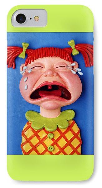 Crying Girl Phone Case by Amy Vangsgard