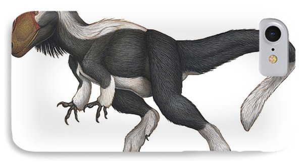 Cryolophosaurus, A Large Theropod That IPhone Case by H. Kyoht Luterman