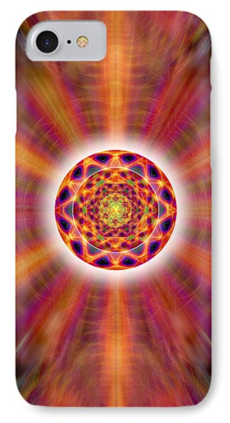 IPhone Case featuring the drawing Crystal Ball Of Light by Derek Gedney