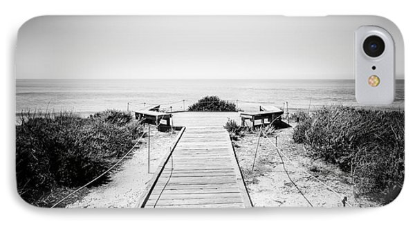 Crystal Cove Overlook Black And White Picture Phone Case by Paul Velgos