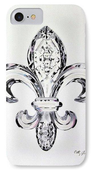 Crystal Fleur De Lis IPhone Case by Cathy Jourdan