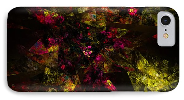 IPhone Case featuring the digital art Crystal Inspiration #1 by Olga Hamilton