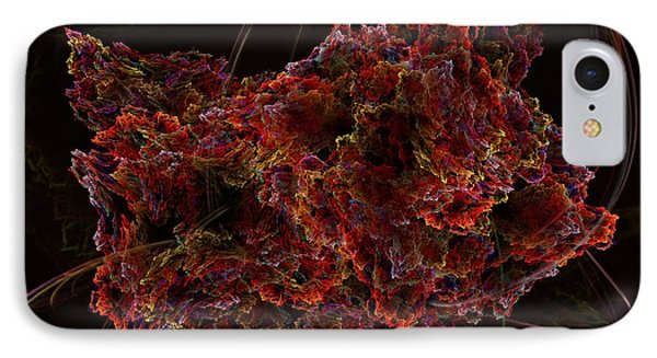 IPhone Case featuring the digital art Crystal Inspiration #2 by Olga Hamilton