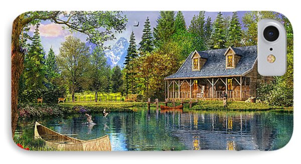 Crystal Lake Cabin IPhone Case