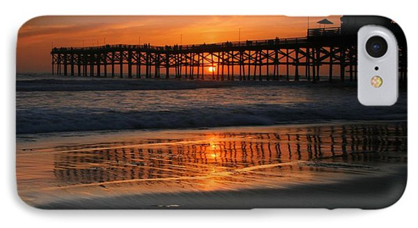 Crystal Pier Sunset IPhone Case by Scott Cunningham