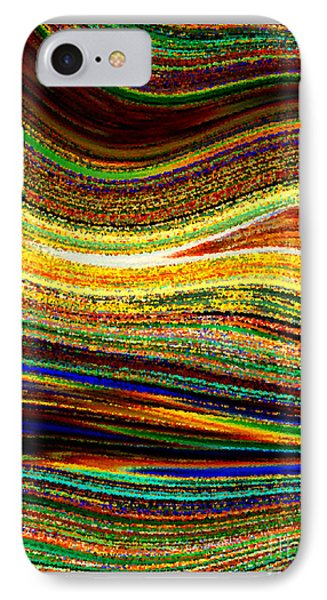 Crystal Waves Abstract 1 IPhone Case by Carol Groenen