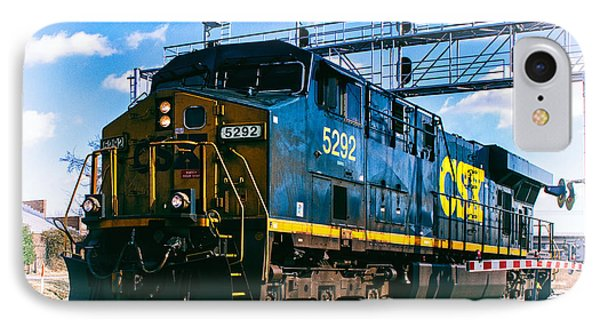 Csx 5292 Warner Street Crossing IPhone Case by Bill Swartwout
