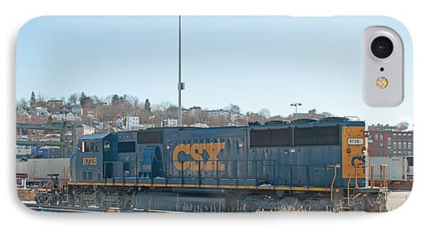 Csx 8728 Worcester Railyard IPhone Case by John Black
