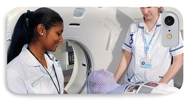 Ct Scanning For Radiotherapy IPhone Case by Public Health England