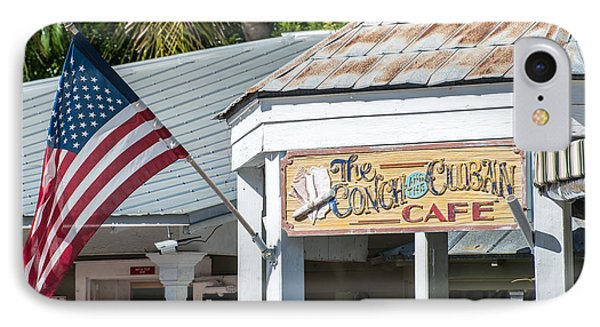 Cuban Cafe And American Flag Key West IPhone Case by Ian Monk