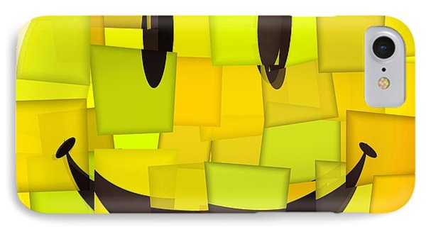 Cubism Smiley Face IPhone Case by Dan Sproul