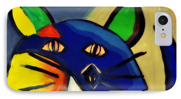 Cubist Inspired Cat  IPhone Case by Mindy Bench