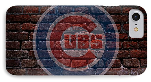 Cubs Baseball Graffiti On Brick  IPhone Case by Movie Poster Prints