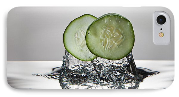 Cucumber Freshsplash Phone Case by Steve Gadomski