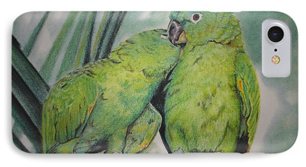 IPhone Case featuring the painting Cuddles by Laurianna Taylor