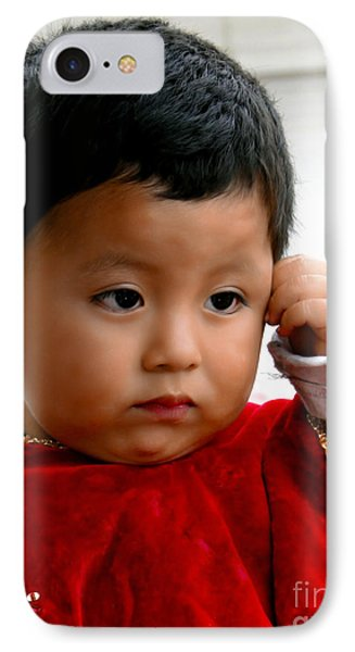 Cuenca Kids 474 - The Thinker? IPhone Case by Al Bourassa