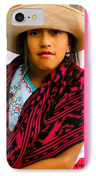 Cuenca Kids 537 IPhone Case by Al Bourassa