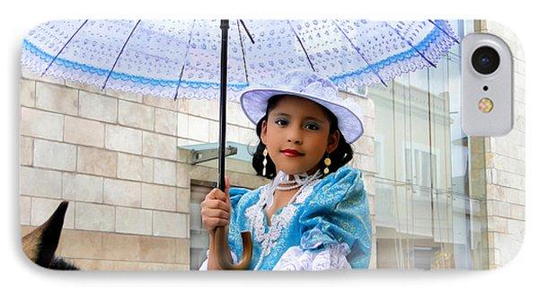 Cuenca Kids 578 IPhone Case by Al Bourassa