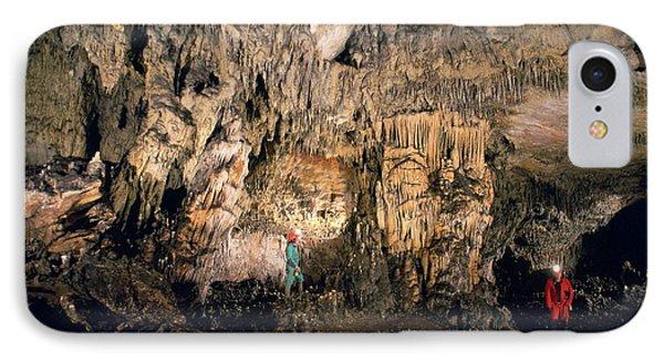 Cueva Mayor Cave Exploration IPhone Case by Javier Trueba/msf