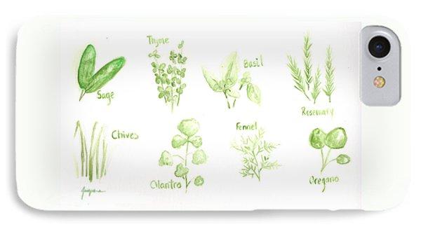 Culinary Herbs Leafy Greens IPhone Case by Patricia Awapara