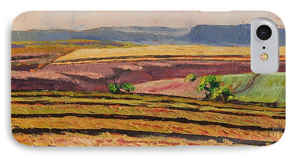 IPhone Case featuring the painting Cultivated Fields Near Ficksburg South Africa Bertram Poole by Thomas Bertram POOLE