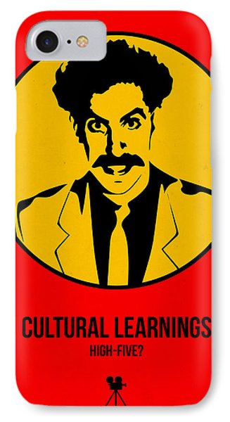 Cultural Learnings Poster 2 IPhone Case by Naxart Studio