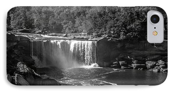 Cumberland Falls Five Bw IPhone Case by Ken Frischkorn
