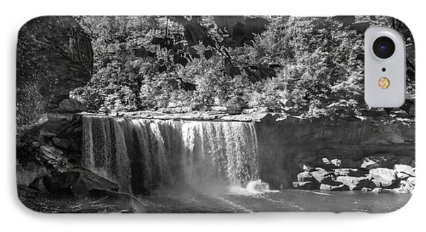 Cumberland Falls Six Bw IPhone Case by Ken Frischkorn