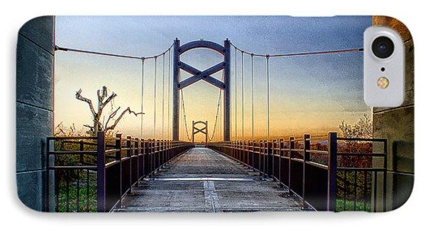 Cumberland River Pedestrian Bridge Phone Case by Patrick Collins