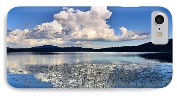 Cumulonimbus Over Water Lilies Phone Case by Rich Rauenzahn