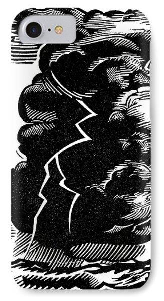 Cumulonimbus Thunderstorm IPhone Case by Gary Hincks