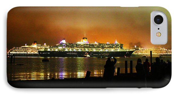 IPhone Case featuring the photograph Cunard's 3 Queens by Terri Waters