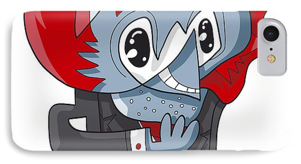 Cunning Businessman Doodle Character Phone Case by Frank Ramspott