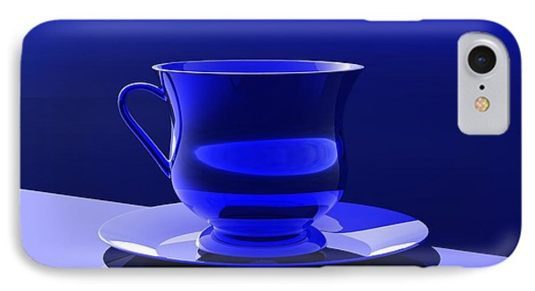 IPhone Case featuring the digital art Cup And Saucer by John Pangia
