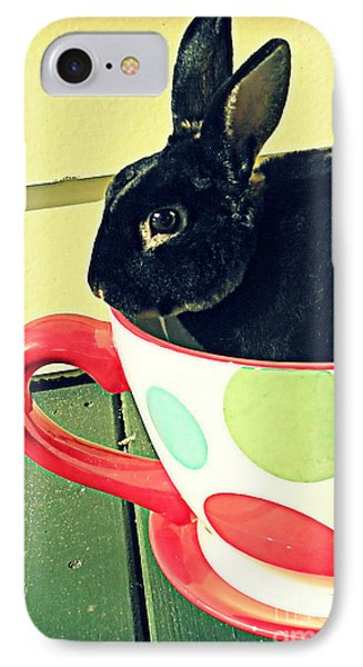 Cup O' Rabbit IPhone Case by Valerie Reeves
