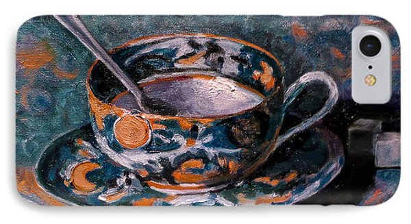 Cup Of Tea And Sugar Cubes IPhone Case by Amy Fearn