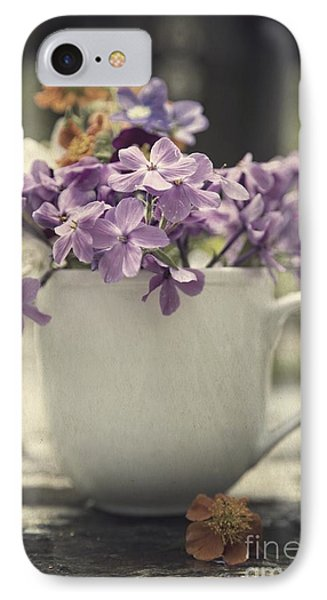 Cup Of Wildflowers IPhone Case by Edward Fielding