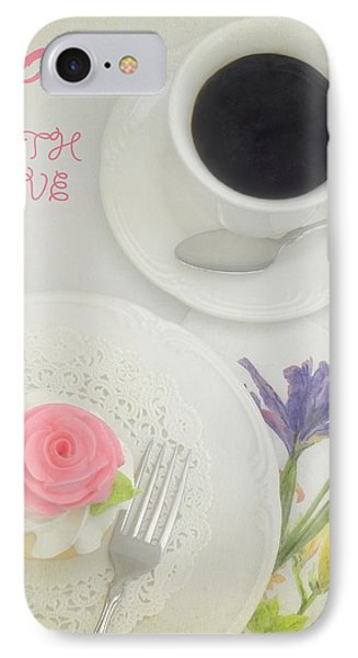 Cupcake And Coffee For Mom Phone Case by Sandi OReilly