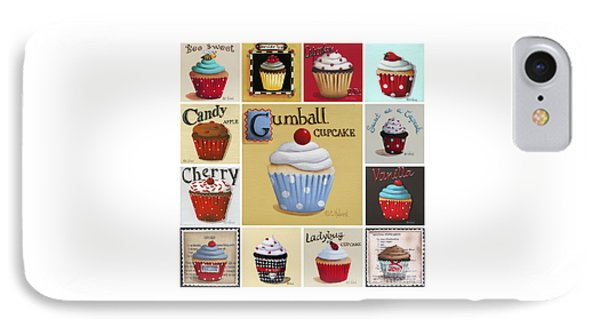 Cupcake Collage IPhone Case by Catherine Holman