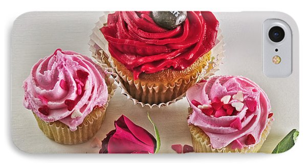 Cupcakes And Roses Phone Case by Kenny Francis