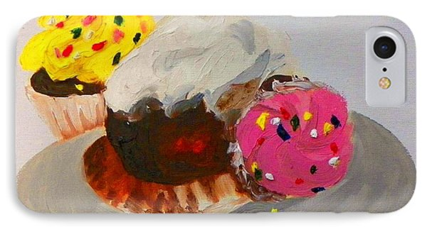 IPhone Case featuring the painting Cupcakes by Marisela Mungia