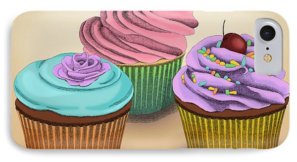 Cupcakes IPhone Case by Meg Shearer